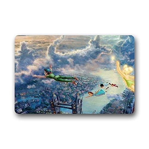 YiNuo Mashine-Washable Welcom Mat Peter Pan Illust Art Thomas Kinkade Custom Doormat Home Floor Mats Rugs 1523 inches