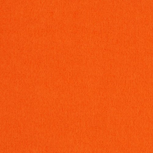 Kaufman Flannel Solid Tangerine Fabric By The Yard