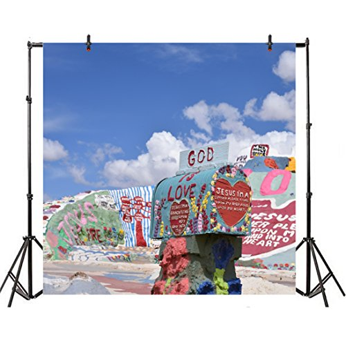 - Leyiyi 6x6ft Photography Backdrop Grunge Graffiti Rock Background Seaside Mountain Oilpainting Mailbox God Jesus Christian Birthday Banquet Baby Shower Cowboy Photo Portrait Vinyl Video Studio Prop