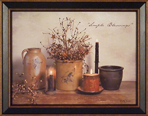 Simple Blessings by Billy Jacobs 15x19 Crocks Candles - Primitive Decor Pictures