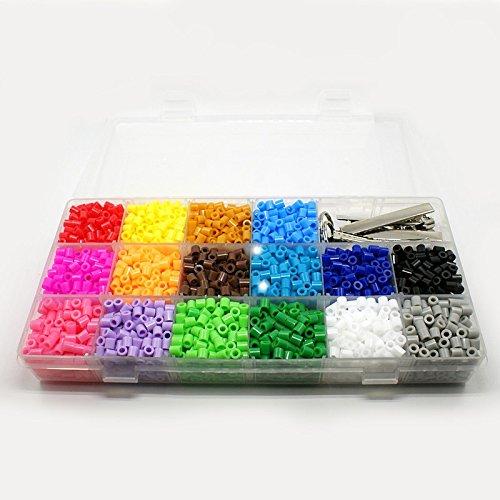3000PC Plastic Beads 16 Colors DIY Beading Kit - Pony Bead Kit
