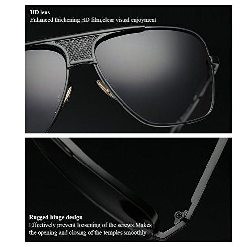 Hombres Lentes Zhuhaitf Clásico Gafas Diaria Vestir Perjudicial Reflejos En de Proteccion contra Chico Black sin Sunglasses amp;transparent Gafas UV Sol Vida fgEnq4