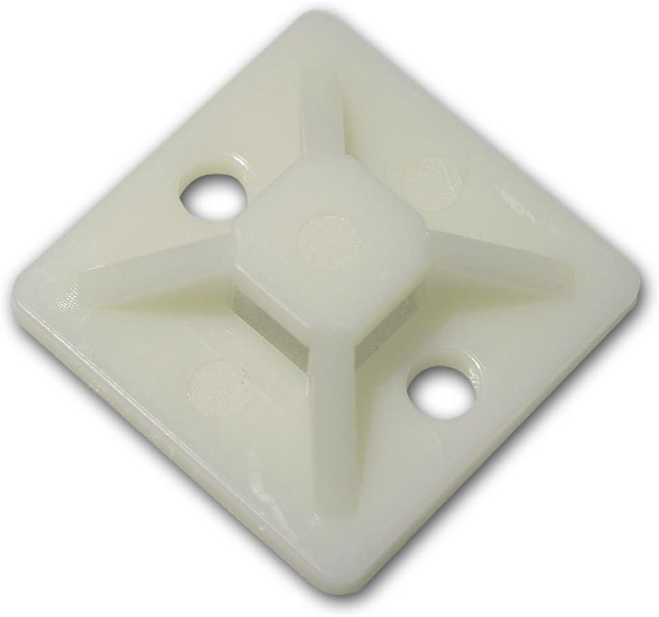 4,5mm natur-weiß 10 Stück Schraubsockel Montagesockel für Kabelbinder bis ca