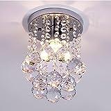 Mini Crystal Chandelier Flush Mount Ceiling Light