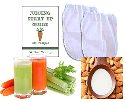 2 Fine Mesh Nut Milk Jelly Strainer Bags (1 gal) XL Extra Large +