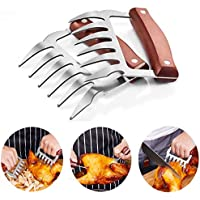 SSGP Bear Claws, Meat Shredder Claws Food-Grade Stainless Steel Turkey Lifter with Wooden Handle for Carving Shredding…