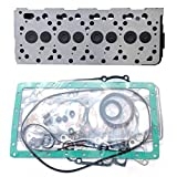 zt truck parts Complete Cylinder Head + Full Gasket Kit 16060-03042 for Kubota V1505 Engine KX71H KX91-2 KX91-2S F3680 B2910HSD B7800HSD B3030HSD B3030HSDC B3200HSD B3300SU