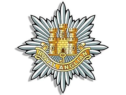 Amazon Royal Anglian Crest Shaped Sticker Logo British Army