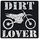 3dRose White Image and Dirt Lover Text with Distressed Dirt Bike Graphics Mouse Pad (mp_180550_1)