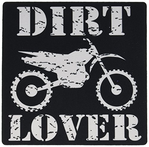 3dRose White Image and Dirt Lover Text with Distressed Dirt Bike Graphics Mouse Pad (mp_180550_1) (Graphic Dirt)