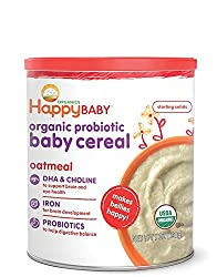 Happy Family happy bellies Baby Cereal - Oatmeal - 7 Oz- Pack of 2