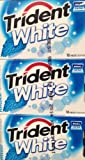 Trident White Peppermint Dual Pack 12 Ct. 16 Pcs Each by Trident [Foods]