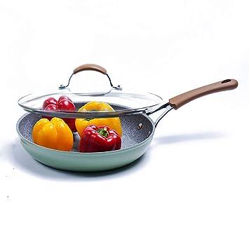 PanHe Sartenes para saltear Sartén Antiadherente Sartén Omelette Wok Maifan Piedra Sartén 20/24/28 / 30cm (Color : B, Tamaño : 24 * 5.5cm): Amazon.es: Hogar