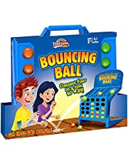 Connect 4 Shots Game, Bounce Balls Connect 4 Shots Board Game, 4 in a Row Board Game for Connect-Four, Linking Shots Bounce Ball Game Educational Multiplayer Toys for Kid Thinking and Aim Practice