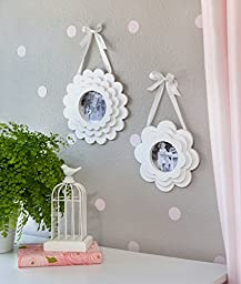 Layered Flower Pedal Wood Hanging Frame Set