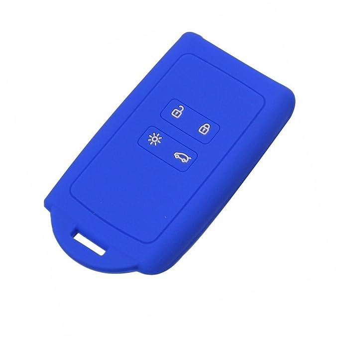 Happyit Blue Silicone Car Remote Key Case Cover for 2016 2017 Kadjar Skin Protector Accessories