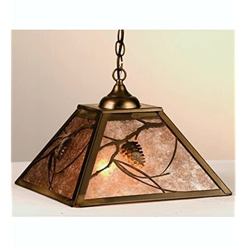 Meyda lighting amazon meyda tiffany custom lighting 76316 whispering pines 2 light pendant antique copper finish with silver mica panels aloadofball Image collections