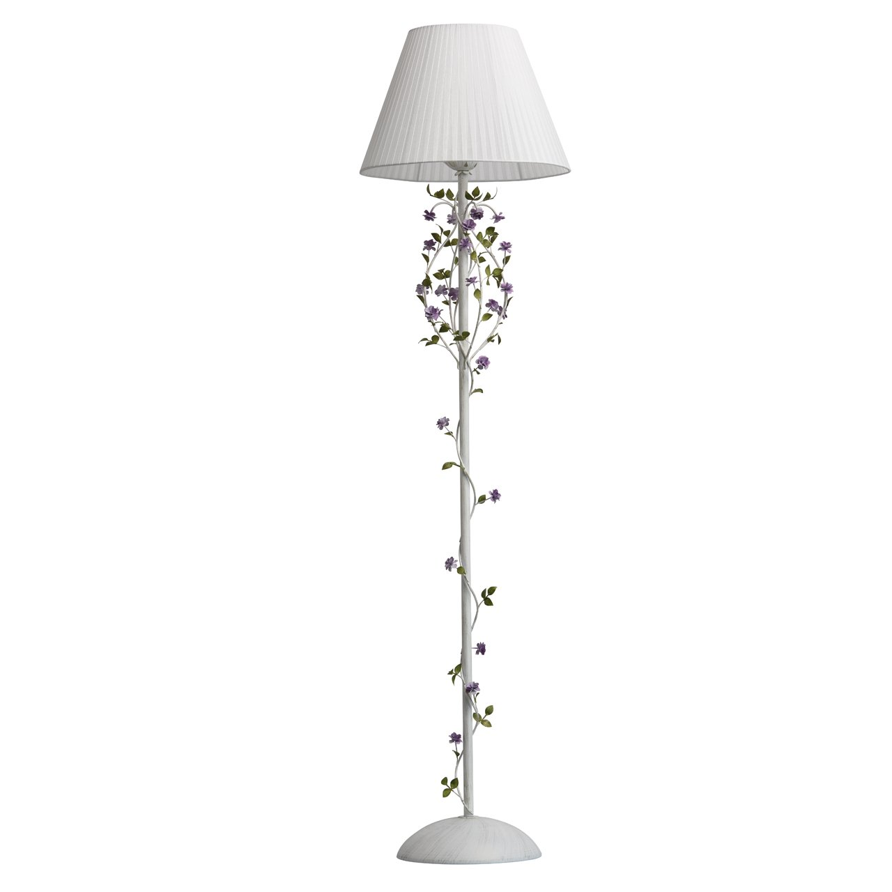 Florentiner eleganter Wandleuchte Kerzen 2 - armig weißes grünes und lila Metall Arabesken grelles Licht blümenformig für Schlafzimmer Wohnzimmer Halle exkl.2 * 40W E14 [Energieklasse A] MW-Light