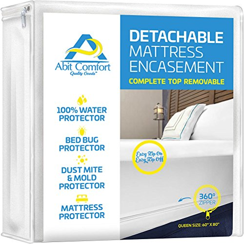 Find Bargain Abit Comfort mattress cover, deep size mattress encasement detachable top, waterproof, ...