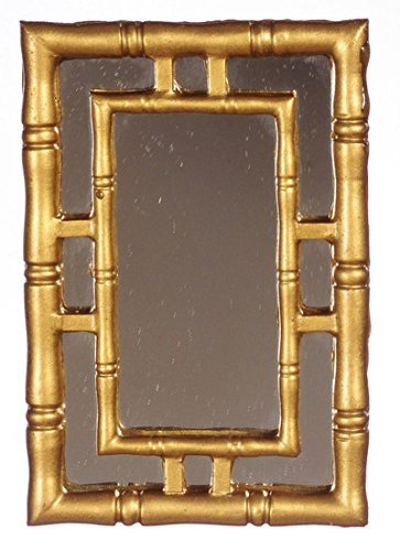 Dollhouse Miniature Gold Ornate Wall Mirror by Town Square Miniatures from Town Square Miniatures