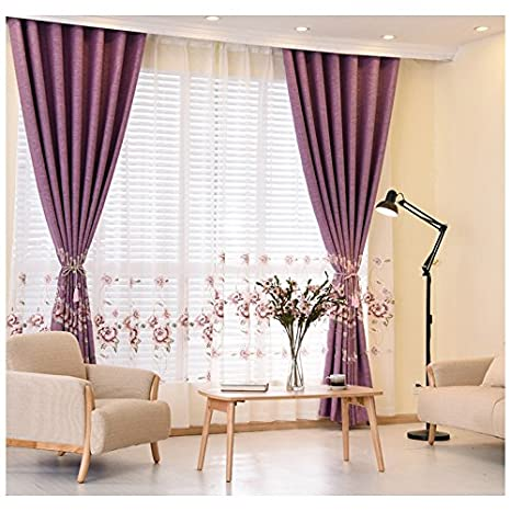PEIWENIN Tende per la camera da letto in stile classico finito tende ...