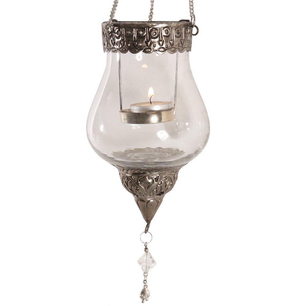 vonHermine Orientalisches H/ängewindlicht Windlicht Laterne Antik-Gold zum H/ängen Metall /Ø 12,5 cm 19,5 cm