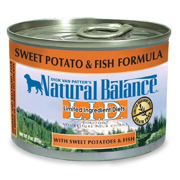 Natural Balance Limited Ingredient Diets Sweet Potatoes & Fish Canned Dog Food 6 oz. Case of 12