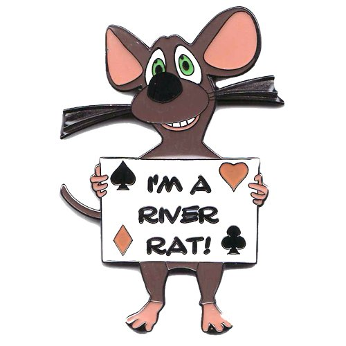 River Rat Poker Card Cover Protector - Comes with Free Cut Card!