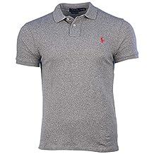Polo Ralph Lauren Men Slim Fit Mesh Polo Shirt,Vintage Pepper Heather S