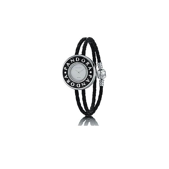 Pandora 811039LS-D1 - Reloj analógico de mujer de cuarzo con correa de piel negra