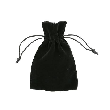 100 piezas Pequeñas Bolsas de Terciopelo 10x15cm Negra ...