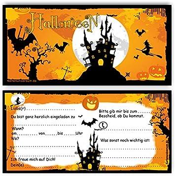 Einladung 12 Karten Umschlage Einladungskarten Motiv Halloween Grusel Party Horror Party Im Set Z B Kinder Geburtstag Erwachsene Sarg Halloweenparty Amazon De Burobedarf Schreibwaren