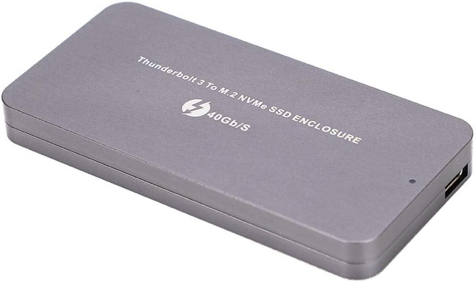Kafuty Carcasa para Thunderbolt 3 Type-C a NVME SSD Carcasa Case M.2 Interface Mobile Hard Disk Box: Amazon.es: Electrónica
