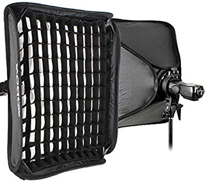 Godox S-Type Bracket Bowens Holder with 80x80cm //32x32 inches Softbox and Honeycomb Grid /& Bag Kit for Camera Flash