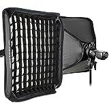 "Godox S-Type Bracket Bowens Holder+ 80x80cm /32"" x 32"" Softbox + Honeycomb Grid + Bag Kit for Camera Flash"