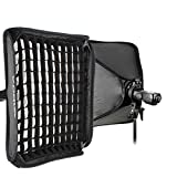 Godox S-Type Bracket Bowens Holder+ 80x80cm /32'' x 32'' Softbox + Honeycomb Grid + Bag Kit for Camera Flash