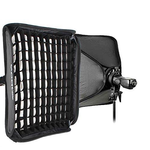 Godox S-Type Bracket Bowens Holder+ 80x80cm /32'' x 32'' Softbox + Honeycomb Grid + Bag Kit for Camera Flash by Godox