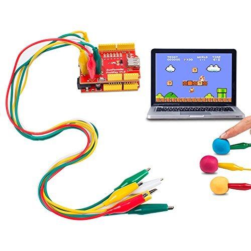 USB Keyboard DIY Starter Kit Gamepad Control Handle DIY Computer Keyboard, Worked with PC Mac OS X Raspberry Pi for Arduino Uno R3 Leonardo ()