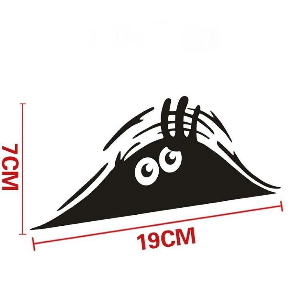 Car Sticker,FTXJ Novelty Eyes Peeking Voyeur Monster Car Body/Window Decal (Black) by FTXJ (Image #2)