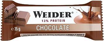 Weider Barrita de Proteína sabor Chocolate. Óptima mezcla de hidratos de carbono, proteínas y vitaminas para un abastecimiento de energía rápido y ...