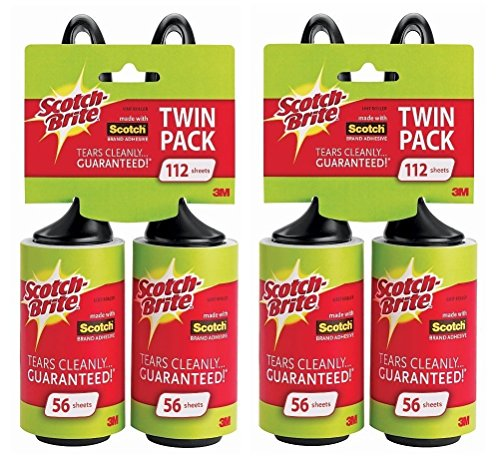 Scotch-Brite Lint Roller Twin Pack (Pack of 2) 224 Sheets Total