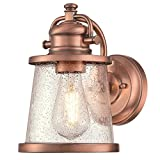 Westinghouse 6361000 Emma Jane One-Light, Washed Copper Finish with Clear Seeded Glass Outdoor Wall Fixture Review