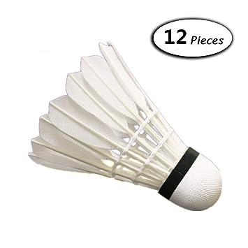 Bälle 12pcs weiße Feder Badminton Ball langlebige Shuttlecocks Outdoor-Trainingsspiel Weitere Ballsportarten