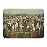Emvency Bath Mat Bare Knuckles by George Hayes C 1870 85 American Painting Oil Paint on Paperboard Wood Panel This Bathroom Decor Rug 16'' x 24''