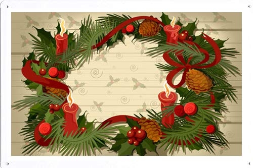 GKrepps 8 x 12 Metal Sign Advent Wreath