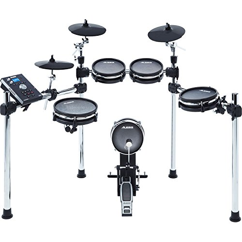 Alesis Command Mesh Kit-8-Piece Electronic Drum Kit with Mesh Heads, Chrome Rack and Command Drum Module including 70 Kits, 600+ sounds, 60 Backing Tracks, USB Sample Loading and USB/MIDI Connectivity -