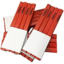 Carpenters Pencils - Bulk 72 count set Red - Flat sided, non-rolling 7 inch standard traditional size- Foghorn Construction - For drawing lines on lumber and assorted woods. Graphite pencil