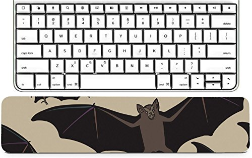 Luxlady Keyboard Wrist Rest Pad Long Extended Arm Supported Mousepad ID: 44881718 Vector seamless halloween pattern with bat Repeating abstract background]()