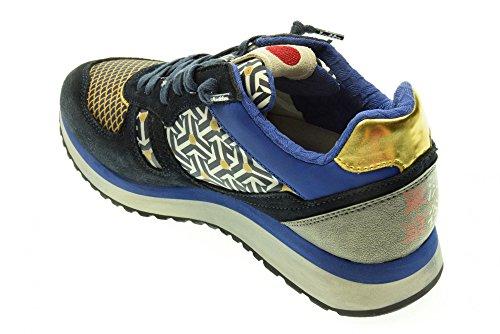 LOT LEYENDA bajas zapatillas de deporte S0123 TOKIO CUÑA W Blu - oro