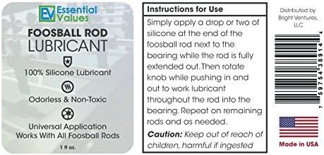 Essential Values Lubricante de Barra de Foosball - lubricante de Silicona para Las Barras de Mesa de Foosball/Tornado: Amazon.es: Deportes y aire libre